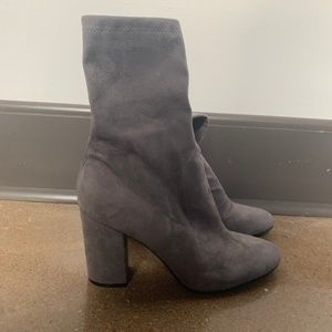 GUESS size 10 Gray sock boots